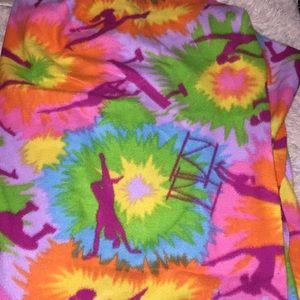 Gymnastics Tye Dye Fleece Throw Blanket